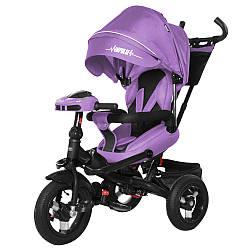 Велосипед трехколесный TILLY Impulse с пультом и усиленной рамой T-386/1 Фиолетовый лен