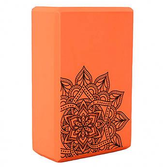 Блок для йоги MS 0858-5 (Оранжевый)