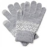 Перчатки сенсорные SHOU с узором, фото 4