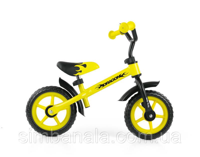 Детский беговел(велобег)Milly Mally Dragon(желтый), Польша