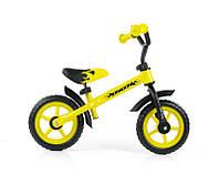 Детский беговел(велобег)Milly Mally Dragon(желтый), Польша, фото 1