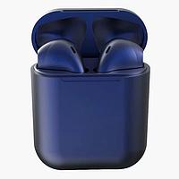 Беспроводные сенсорные синий наушники inPods 12 simple TWS блютуз гарнитура