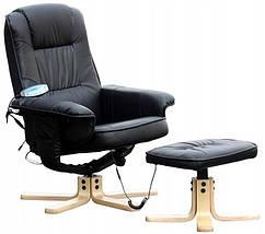 Масажне крісло з підігрівом REGOline чорне