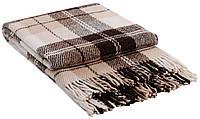 Шерстяной плед Vladi Эльф 2 Полуторный 140х200 см Бежево-коричневый 1005491, КОД: 1675646