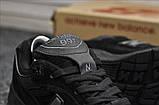 Кросівки New Balance 991 Triple Black, фото 4