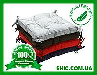 Подушка на стул 40х40 см борт 5 см (коричневые, синие, красные, серые, хаки, мятные, капучино, лиловые)