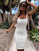Летнее платье-майка Белое L (46-48)