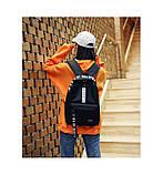 Рюкзак большой BE YOUR STYLE мужской женский чоловічий жіночий школьный портфель черный, фото 3