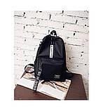 Рюкзак большой BE YOUR STYLE мужской женский чоловічий жіночий школьный портфель черный, фото 9