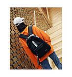 Рюкзак большой BE YOUR STYLE мужской женский чоловічий жіночий школьный портфель черный, фото 4