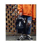 Рюкзак большой BE YOUR STYLE мужской женский чоловічий жіночий школьный портфель черный, фото 5