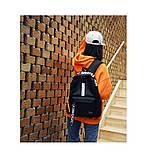 Рюкзак большой BE YOUR STYLE мужской женский чоловічий жіночий школьный портфель черный, фото 7