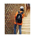 Рюкзак большой BE YOUR STYLE мужской женский чоловічий жіночий школьный портфель черный, фото 8