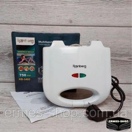 Гриль контактный Rainberg RB-5405 | 750 Вт | Электрогриль Раинберг | Сендвичница | Бутербродница