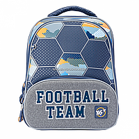 Рюкзак школьный YES S-30 JUNO ULTRA Football серый (558157), фото 1