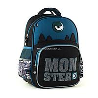 Рюкзак школьный YES S-31 Monster черно-синий (558200), фото 1