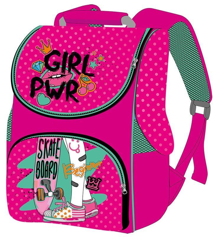 Ранец (рюкзак) - короб ортопедический  для девочки - Скейт, Smile 988606