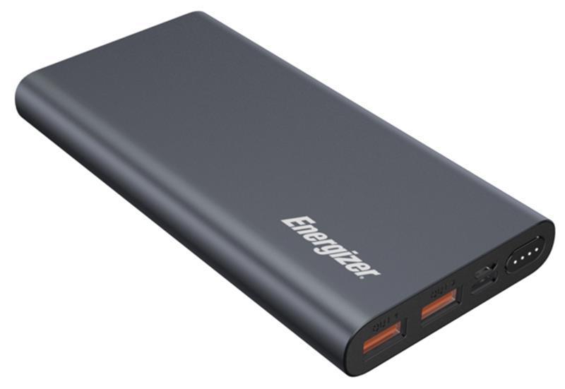 Универсальная мобильная батарея Energizer 10000mAh USB Type-C Grey (UE10047PQ (G))