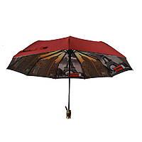 Зонт полуавтомат с двойной тканью Bellissimo Бордовый (18301-6)