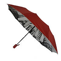 Зонтик полуавтомат Bellissimo Бордовый (18315-5)