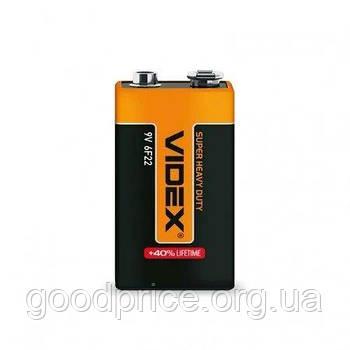 Батарейка солевая крона VIDEX Super Heavy Dutty 9V для металлоискателей, целеуказателей