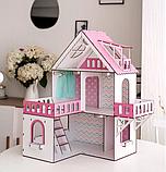 """Кукольный домик NestWood """"МИНИ КОТТЕДЖ"""" для кукол LOL (ЛОЛ) , 5 комнат (этаж 20см) + мебель 9 ед, фото 2"""