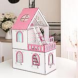 """Кукольный домик NestWood """"МИНИ КОТТЕДЖ"""" для кукол LOL (ЛОЛ) , 5 комнат (этаж 20см) + мебель 9 ед, фото 3"""