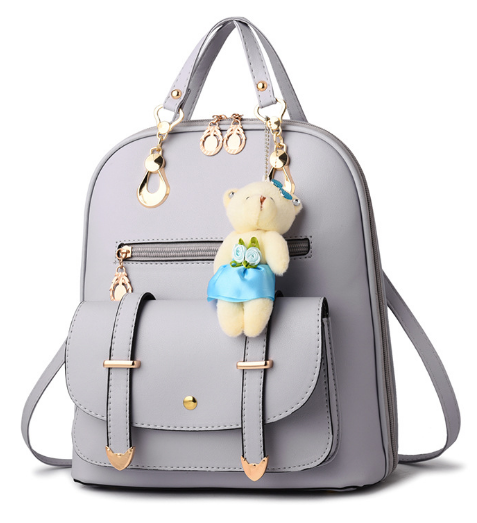 Рюкзак-сумка світло-сірий