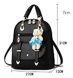 Рюкзак-сумка світло-сірий, фото 2