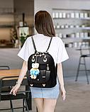 Рюкзак-сумка світло-сірий, фото 6