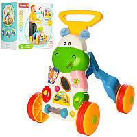 Детская каталка ходунки музыкальные + свет / игровой центр для ребенка / ходунки дитячі