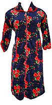 Цветной велюровый женский халат на молнии 54 размер, фото 2