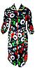 Цветной велюровый женский халат на молнии 54 размер, фото 5