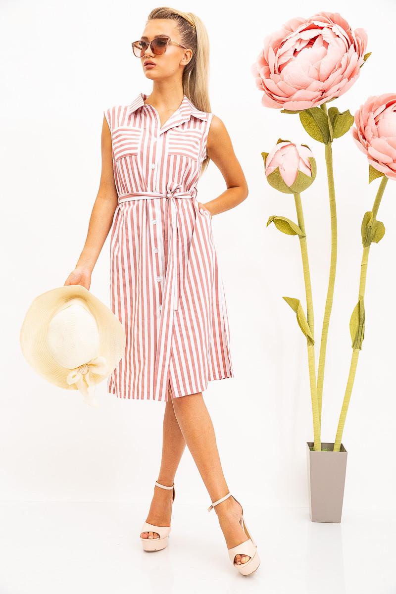 Платье-рубашка жен 102R067-1 цвет Пудрово-белый XXL