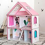 """Кукольный домик для Барби NestWood """"СТАНДАРТ"""" 5 комнат (101см), без мебели, фото 5"""