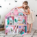 """Кукольный домик для Барби NestWood """"СТАНДАРТ"""" 5 комнат (101см), без мебели, фото 6"""