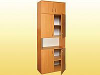 Шкаф книжный, полузакрытый, 4-дверный, с антресолью — 802х403х2186 мм