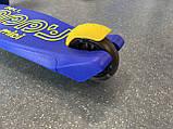 Самокат трехколесный складной Scooter Happy MINI со светящимися колесами, Синий, фото 9