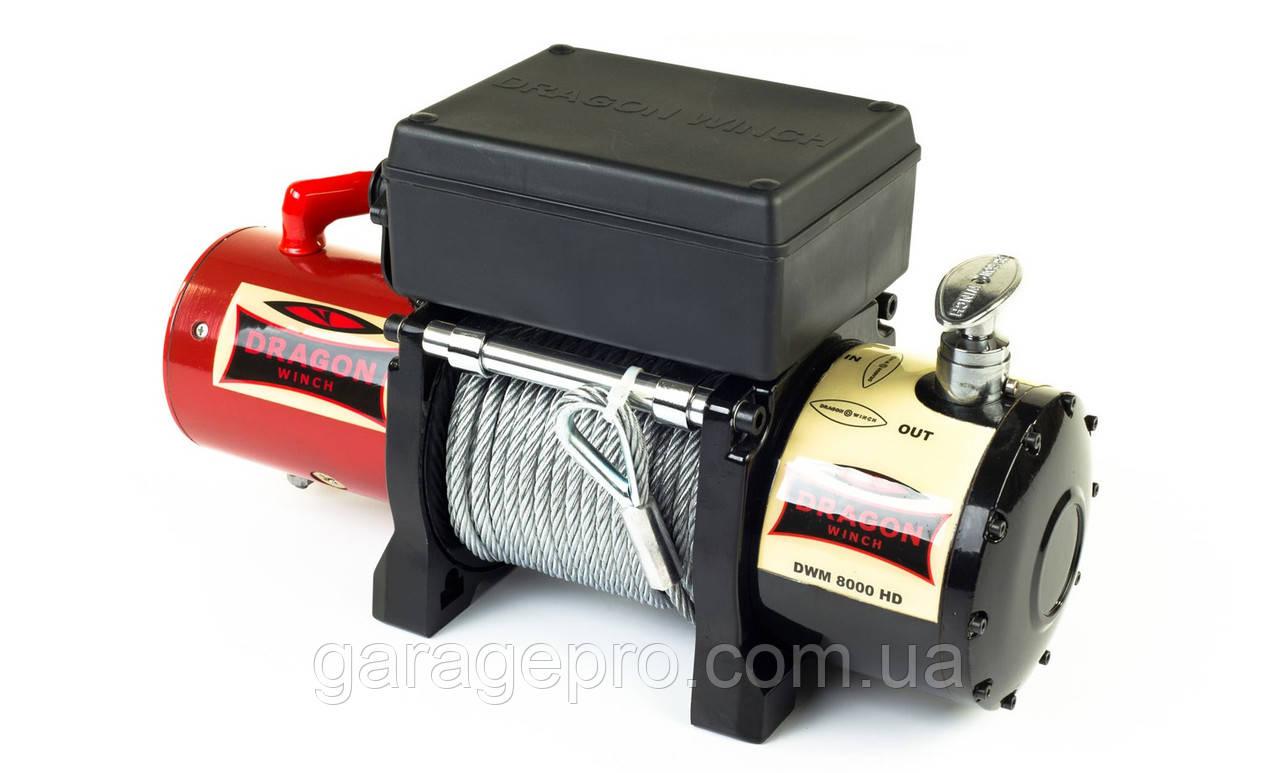 Лебідка на позашляховик 12 Вольт Dragon Winch Maverick 8000HD (з офіційною гарантією)