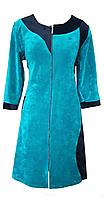 """Велюровий жіночий халат """"Оленка"""" з капюшоном розмір 56, фото 3"""