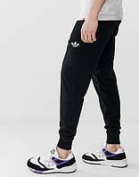 Мужские спортивные штаны Adidas (Адидас) Черные летние