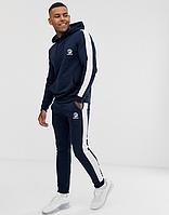 Спортивный тренировочный летний мужской  костюм Adidas, Адидас, в стиле, синий