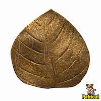 Лист Золотистый из Фоамирана (латекса) 4.5 см