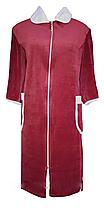 Велюровый женский халат на молнии 56 размер, фото 3
