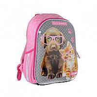 Школьный Рюкзак с собачкой и кошкой каркасный