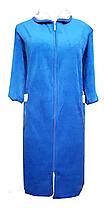 Велюровый женский халат на молнии 62 размер, фото 3