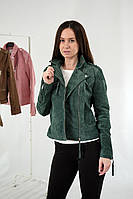 Стильні жіночі куртки косухи з натуральної шкіри італійський виробник