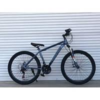 Спортивний велосипед TopRider-903 26 дюймів. Рама 17. СІРИЙ . Шимано Диск гальма.
