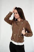 Стильні жіночі куртки косухи з натуральної шкіри італійського виробника