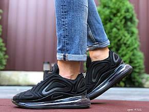 Мужские кроссовки Nike Air Max 720,черные,текстиль, фото 3